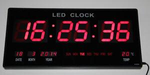 XXL-Grande-Led-Numerique-Horloge-Murale-avec-Date-Temperature-Alarme