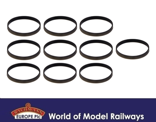 Bachmann 36-070 OO Gauge London S Stock Traction Tyres Pack 10
