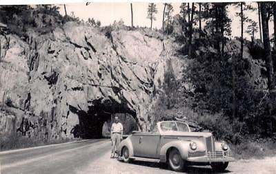 Man By Packard Convertible Car Parked At Black Hills Needles ...