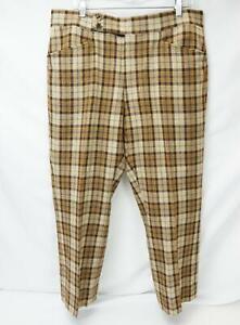 Jack Nicklaus A Cuadros Frente Plano Pantalones De Vestir Para Hombre Multicolor W 36 I 37 Ebay