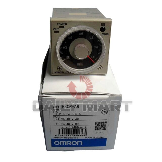 Omron H3CR-A8 Timer Module H3CRA8 New In Box Free Shipping