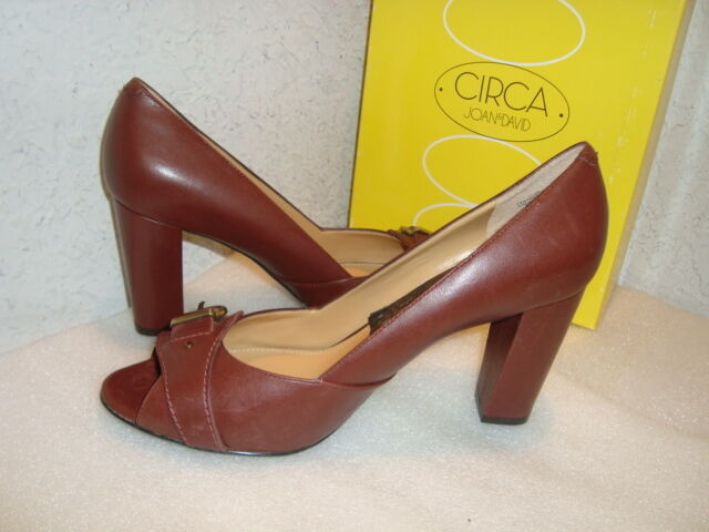 Circa Joan & David Damenschuhe NWB Foundit Braun Wine Braun Foundit Leder Heels Schuhes 8 MED NEW a5cb36