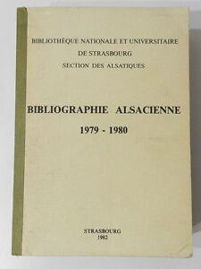 BIBLIOGRAPHIE-ALSACIENNE-1979-1980-PAR-G-LITTLER-6951-OUVRAGES-DECRITS