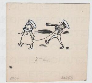 Zeichnung-fuer-die-JUGEND-1917-caricature-General-Douglas-Haig-Arpad-Schmidhammer