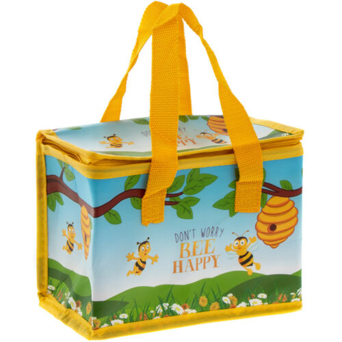 """/""""Don; T WORRY BEE HAPPY/"""" Silver Lining isolé Bee Photo Sac à lunch"""