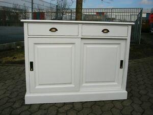 kommode anrichte sideboard landhaus schiebet ren ebay. Black Bedroom Furniture Sets. Home Design Ideas