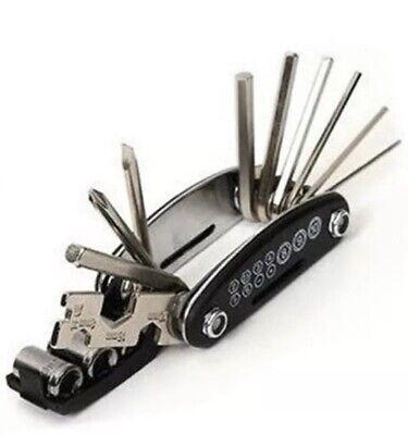 10 in 1 Multitool Bicycle Bike MTB Repair Tool Pocket Folding Chrome steel