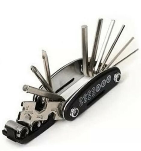 Multi BIKE TOOL 17 in 1 Bicycle Repair Kit Toolset Pocket Size Carbon Steel NEW
