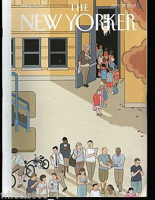 "The New Yorker Magazine September 17, 2012 ""Back to School"" by Chris Ware Exc."