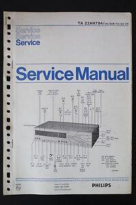 details about philips ta 22ah794 amplifier original service manual/manual/wiring  diagram!
