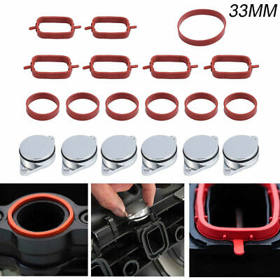 6x 33mm Swirl Flap Flaps Delete Removal Blanks Plugs with O-ring Kit for BMW M57
