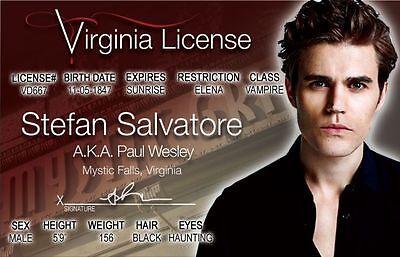 Stefan Salvatore aka Paul Wesley the VAMPIRE DIARIES Drivers License | eBay