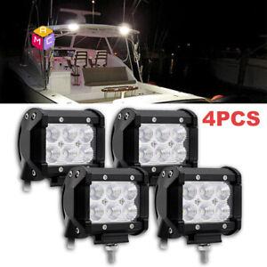 """4/"""" SPOT LED WORK LIGHT OFF ROAD LAMPS Raptor 250F LT-R450 850XC XC KTM BANSHEE"""