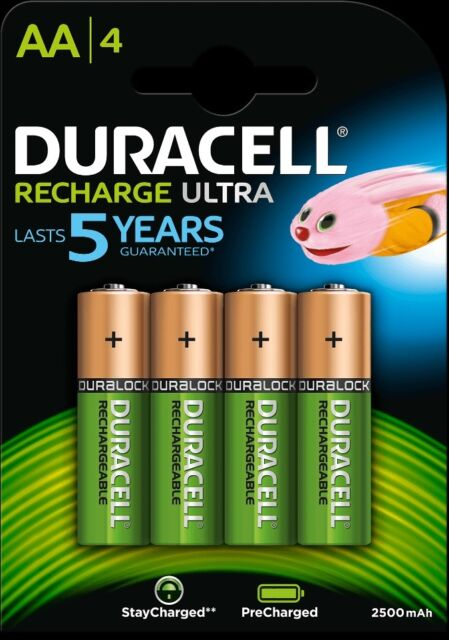 Duracell Rechargeable Ultra Aa x 4 - 2500 MAH / 1.2v - Lr06