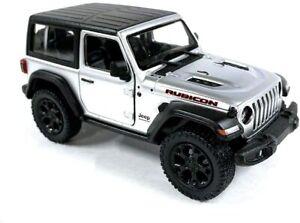 5-034-Kinsmart-2018-Jeep-Wrangler-Rubicon-SILVER-Diecast-Model-Toy-Car-1-34-Scale