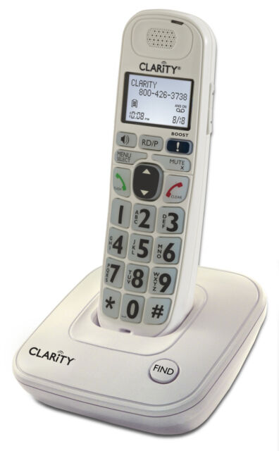 Clarity 53704.000 Amplified D704 Moderate Hearing Loss Cordless Phone