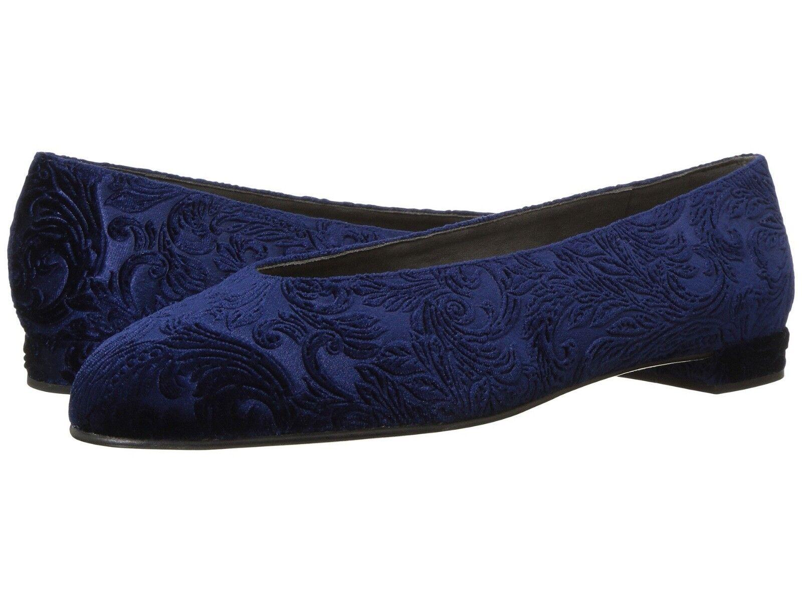 NIB Stuart Weitzman Chicflat Size Size Chicflat 8 Blue Velvet Prussian Romantic Flats $365 62a176