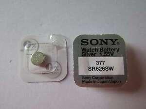 1x-377-Silber-Oxid-Uhrenknopfzelle-1-55V-SR626SW-Sony