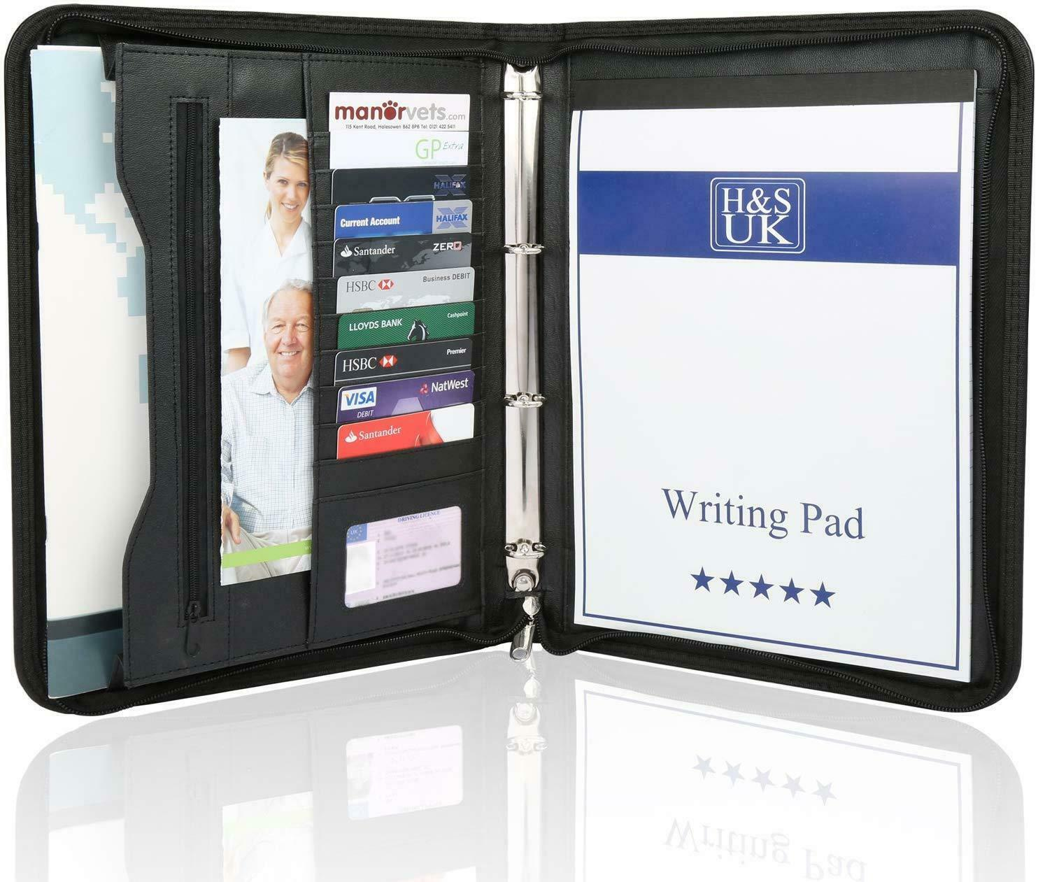 A4 Business Portfolio Case With Ring Binder Zipped Close