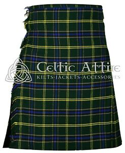 Scottish Men/'s 08 Pieces Armstrong  Tartan Kilt outfit Set 8 Yard 16 oz Fabric kilt set.
