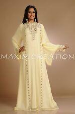 DUBAI KAFTAN Beautiful Caftan Dress Abaya Jilbab Islamic Sequins Arabian 3197A