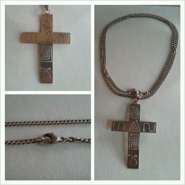 Colgante CRUZADO CON CADENA DE silver 925 Joyería cruz