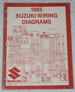1985 suzuki motorcycle and atv electrical wiring diagrams manual 85 rh ebay com suzuki x4 motorcycle wiring diagram suzuki motorcycle wiring color codes