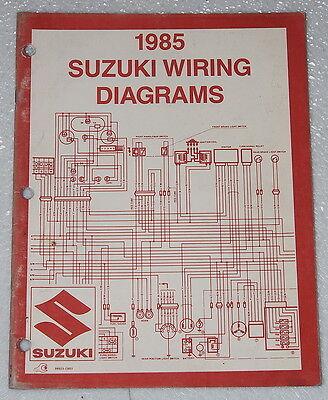 1985 SUZUKI Motorcycle and ATV Electrical Wiring Diagrams Manual 85