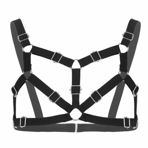 Mens Body Chest Harness Muscle Shoulder Strap Belt Gay Roleplay Costume Clubwear