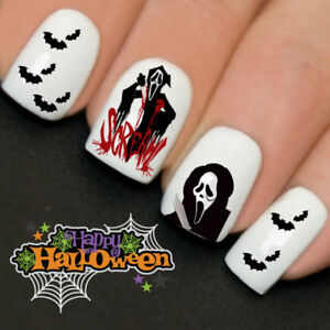 Scream Bats Ghost Halloween Nails Nail Art Water Transfer ...