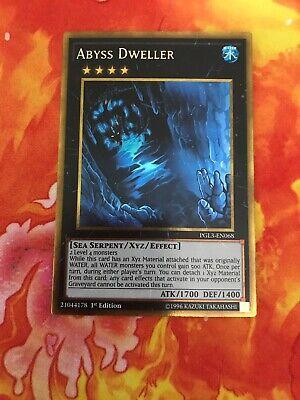 Gold Rare 1st Edition NM Premium Gold Abyss Dweller PGL3-EN068