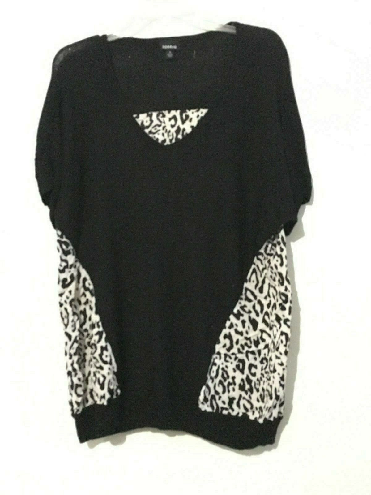 Torrid schwarz Floral Animal Print Top Blouse Größe 1 damen Stylish