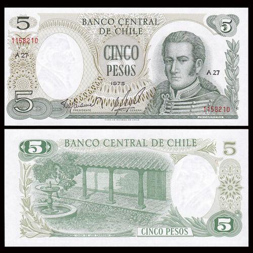P-149 UNC 1975 Chile 5 Pesos