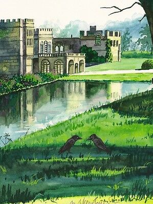 1.5x2 DOLLHOUSE MINIATURE PRINT OF PAINTING RYTA 1:12 SCALE ENGLISH LANDSCAPE