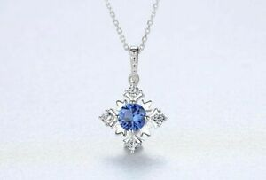 BENIAMINO-Silberkette-Anhaenger-925-Sterling-Silber-Saphir-Halskette-Collier-OVP