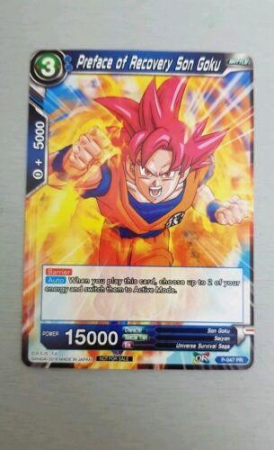 Dragon Ball Super Promo Play Set x4 cards Preface of Recovery Son Goku P-047-PR