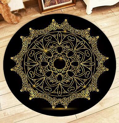 Round Mandala Floor Mat Rug Carpet Living Home Room Non Slip Area Yoga Decor -
