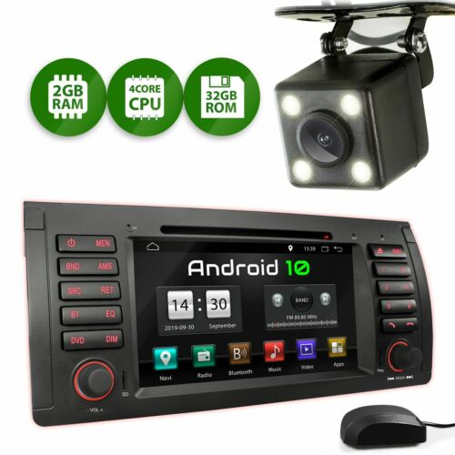 Android 10 Autoradio mit Bluetooth für Bmw E39 7er 5er X5 M5 ink Rückfahrtkamera