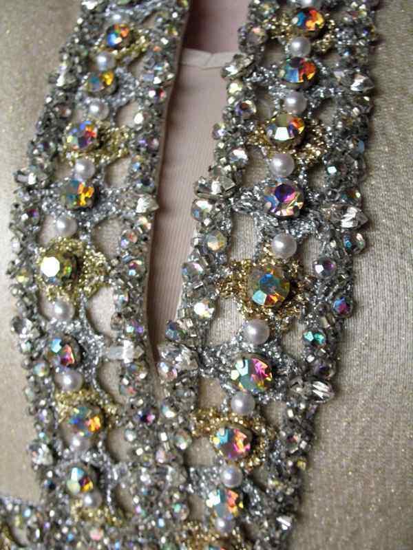 Ceil Chapman Dress VTG 60s Metallic Silk Aurora B… - image 4