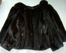 SAGA MINK NERZJACKE dunkelbraun Gr 44 46   Fur Coat L XL dark brown