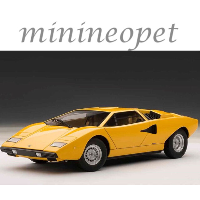 Lamborghini Sales: AUTOart 1/18 Lamborghini Countach Lp400 Yellow 74646 For