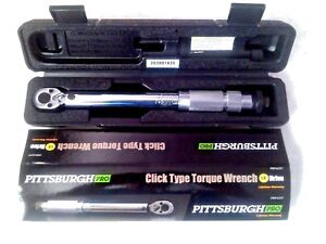"""1//4/"""" Torque Wrench Snap Socket Professional Drive Click Type Ratcheting"""