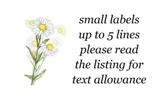 65 Mixed Daisy Flower Small Sticky White Paper Stickers Labels NEW