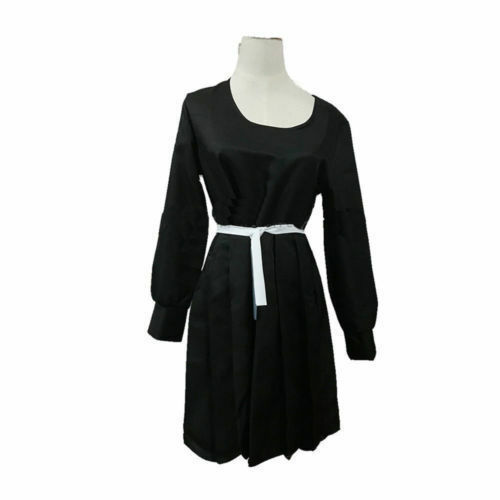 ZOMBIE LAND SAGA Yamada Tae Cosplay Costume Black Gothic Long Dress  Custom#867