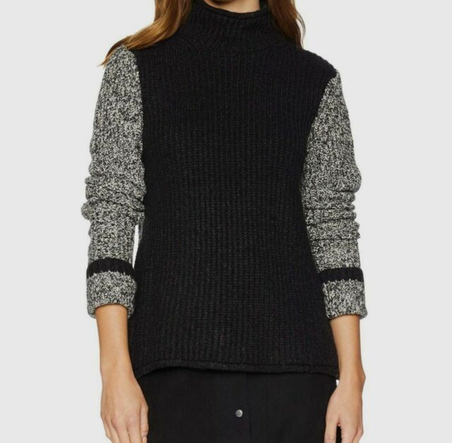 Comfortable Long sleeves Sweater Mix 94 collection- Basket Case Women Hips lenght black and plaid knit Sales