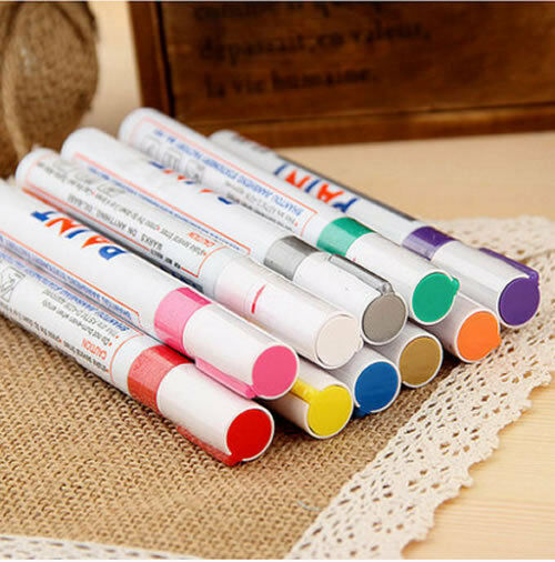 12 Colors Sets Fine Paint Oil Based Art Marker Pens Metal Glass Waterproof