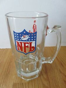 "Vintage NATIONAL FOOTBALL LEAGUE NFL Collectors Edition SLIM JIM 8"" Glass Mug"