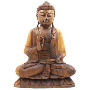 Vitarka-mudra-Buddha-personaggio-50cm-LEGNO-STATUA-lehrend-sud-est-asiatico-Asia-Lifestyle