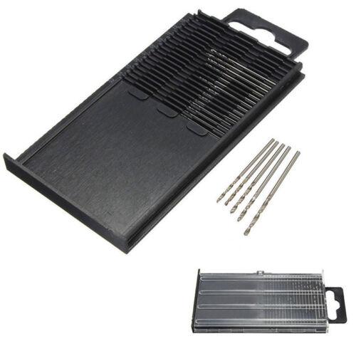 20 Stücke Mini Micro Spiralbohrer HSS Set Stahl 0,3mm-1,6mm Handwerk Fall WH