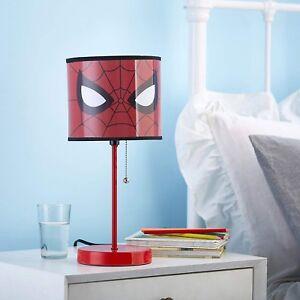 Image Is Loading Spiderman Stick Lamp Toddler Bedroom Nursery Room Bedside